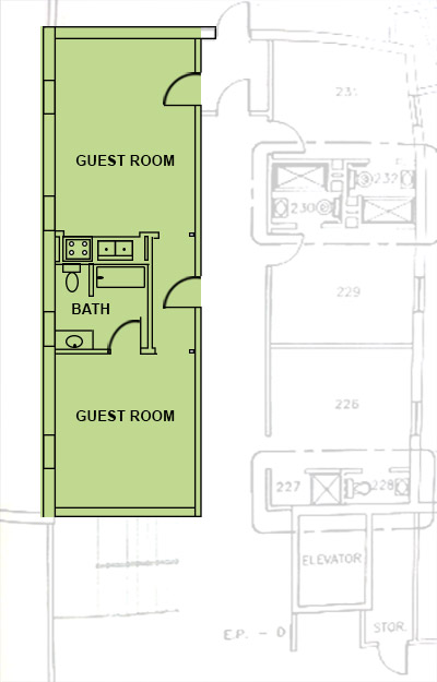 Efficiency floor plan abbot senior living zanesville 39 s Efficiency apartment floor plan